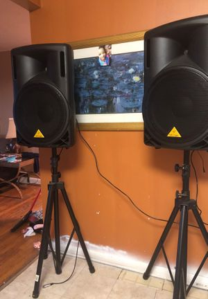 Dj speakers with stand for Sale in Chicago, IL