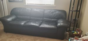 Leather couch for Sale in Manteca, CA