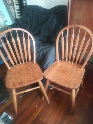 2 Windsor kitchen table chairs for Sale in San Francisco, CA