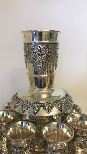 8 cup silver plated kiddish fountain for Sale in Los Angeles, CA