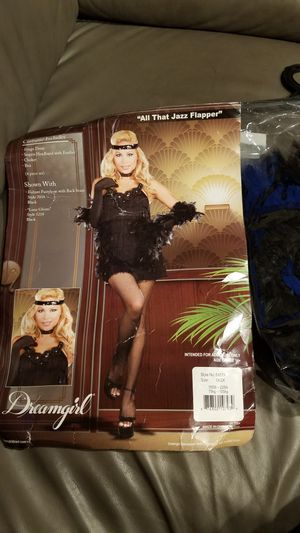 Brand new woman Halloween costume all that jazz Flapper size large or extra-large for Sale in Everett, WA