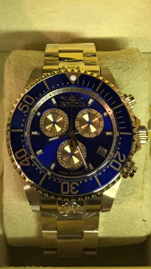 Invicta Stainless Steel Gold Pro Diver Men's 47mm Chronograph Watch for Sale in Buena Park, CA
