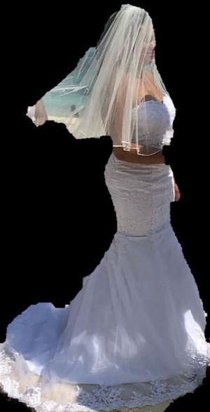 Wedding mermaid dress and ring pillows for Sale in Woodbridge, VA