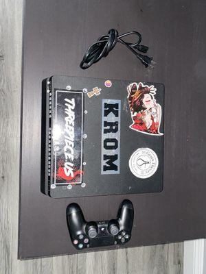 PS4 SLIM WITH CONTROL for Sale in San Bernardino, CA