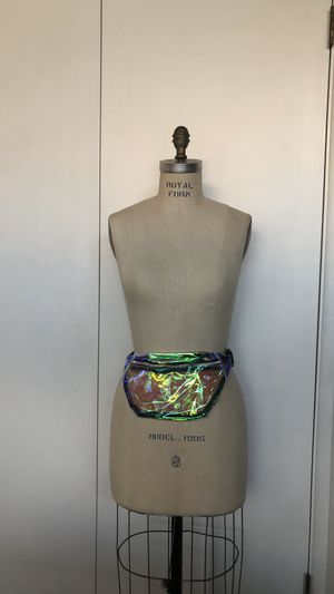 Fanny pack holographic clear iridescent bag for Sale in Long Beach, CA