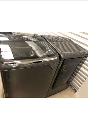 SAMSUNG WASHER AND ELECTRIC STEAM DRYER for Sale in Chandler, AZ