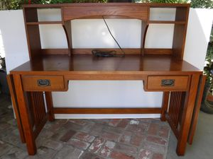Bassett Desk with Lighted Hutch for Sale in Walnut Creek, CA