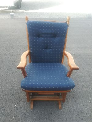 Blue glider rocking chair for Sale in Tooele, UT