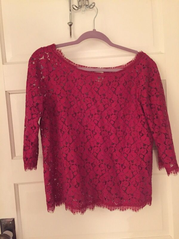 Lace pink top from Anthropology