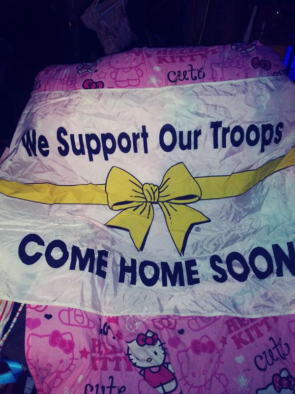 Big flag Support our troops