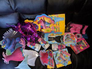 Trolls birthday decorations etc for Sale in Las Vegas, NV