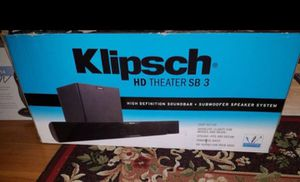New Klipsch HD Theater SB3 Soundbar Wireless Subwoofer for Sale in Parma, OH