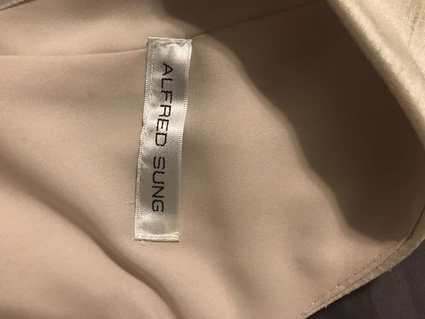 Alfred Sung Dupioni Cocktail Dress