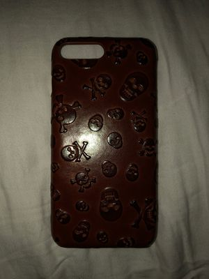 Skulls Leather Case for iPhone 8/7 PLUS for Sale in Fontana, CA