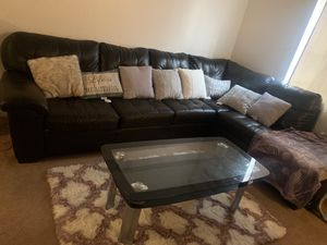 Just bought a few months ago need to sell due to moving (without the coffee table) for Sale in Roanoke, VA