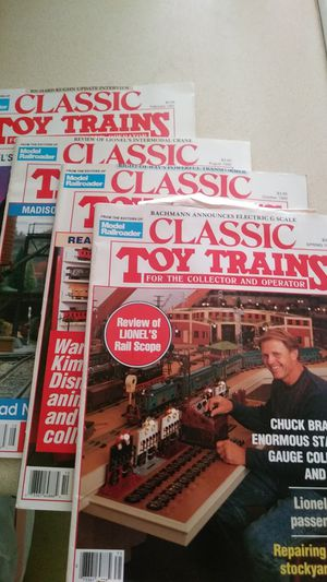 FOUR CLASSIC TOY TRAINS MAGAZINES for Sale in Rio Linda, CA