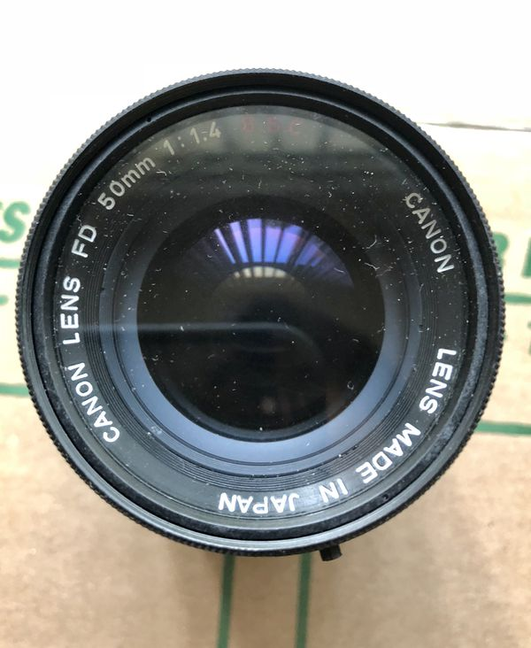 Canon FD 50mm F1.4 S.S.C. Lens with FD to m 3/4 adaptor