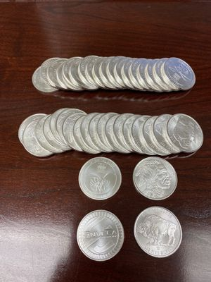 .999 Fine Silver 1 oz bullion killer hornet and buffalo coins for Sale in Wheaton, MD