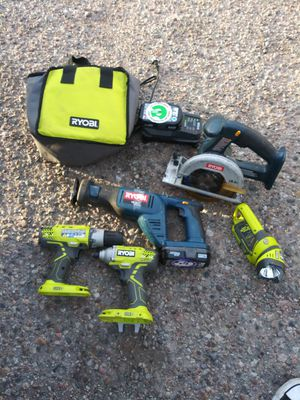 Ryobi Tools Sold as Set Only. Grinder and bolt cutters sold together or seperate. for Sale in Pueblo, CO