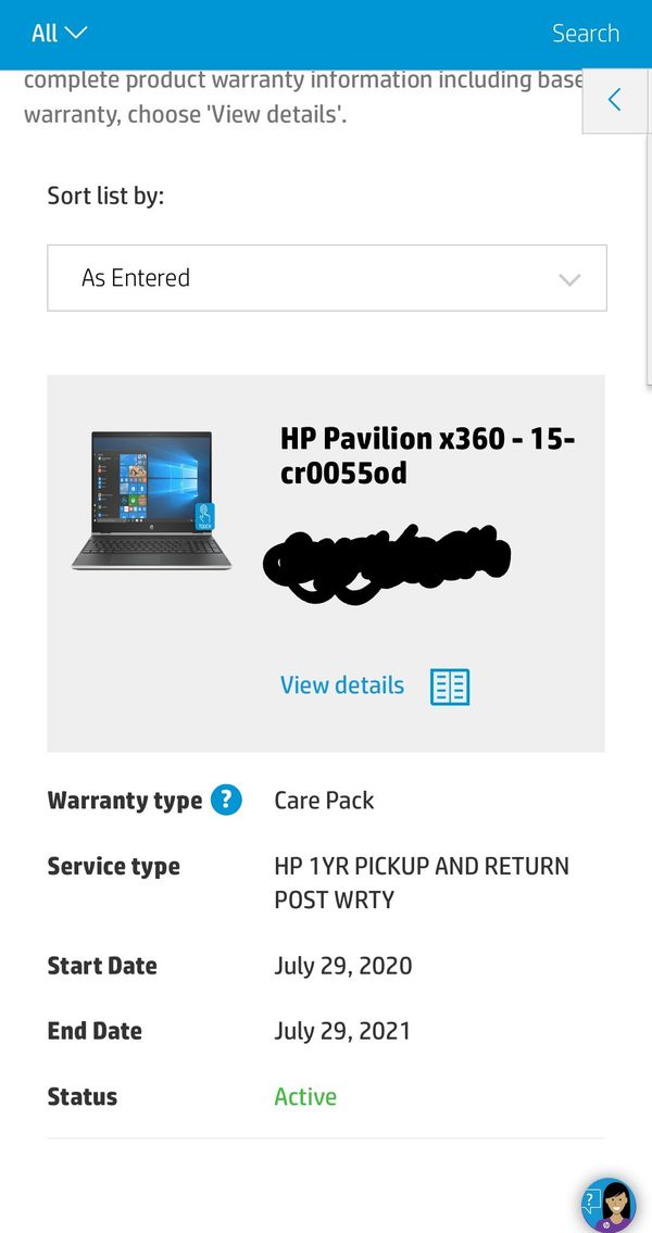 HP Pavilion x360 15 inch touch screen