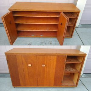 Solid Wood Cabinet, Buffet, Sideboard, TV Stand, Storage for Sale in Patterson, CA