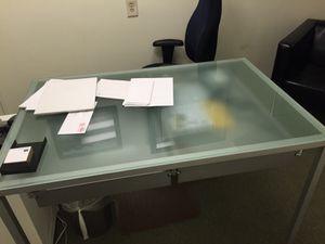 Modern glass office desk for Sale in Boston, MA