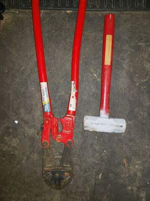 Drill, Bolt cutters, and sledge hammer for Sale in Memphis, TN