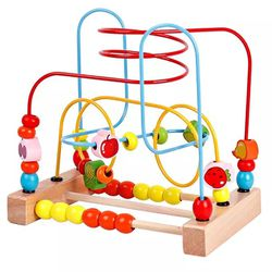 Wooden Educational Roun Bean Colorful Toy For Babies And Toddlers Great Gift for Sale in Chicago,  IL
