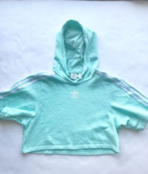 Adidas mint short sleeve cropped hoodie Adult SZ XS Youth 11-12 for Sale in Clermont, FL