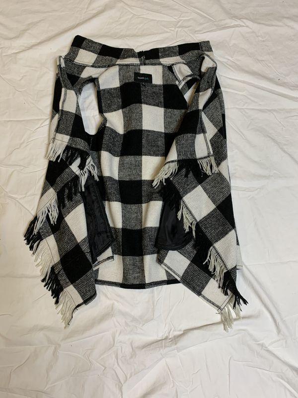 Black and White Checkered Vest