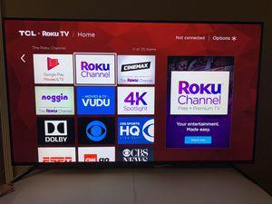 TCL ROKU TV 75IN 4 K for Sale in Alton, TX