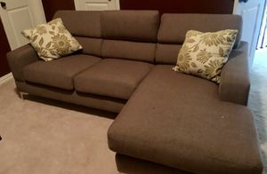 Free Delivery Available Modern Contemporary Brown 2 piece Modern Sectional sofa Sectional couch with chaise for Sale in Fort Worth, TX