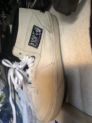 Vans half cabs boys 7.5 off white near new for Sale in Corona, CA