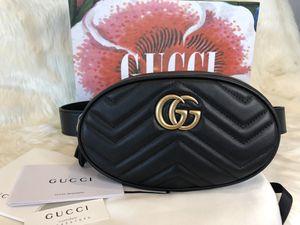 Gucci belt bag GG Marmont leather black for Sale in Oakland Park, FL