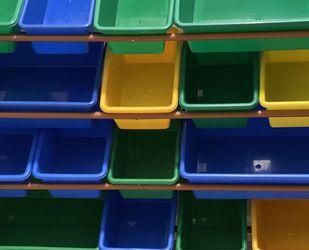 Kids Toy Organizer 16 Multi Colored Bins for Sale in Prunedale,  CA