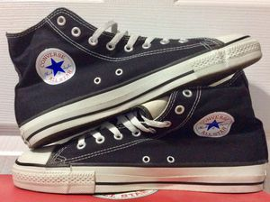 Late 90s-early 2000s Converse Chuck Taylor All Star Hi Top Made In USA 🇺🇸 Black for Sale in Malibu, CA