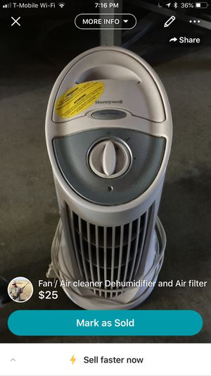 Honeywell dehumidifier air filter portable tower for Sale in San Francisco, CA