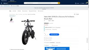 Nakto NAK- DSYB 20 in. Discovery Fat Tire Electric Bicycle, Black for Sale in Houston, TX