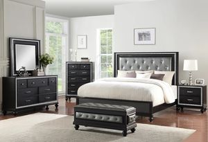 6 pc queen bedroom set with brand new mattress financing available for Sale in Greensboro, NC