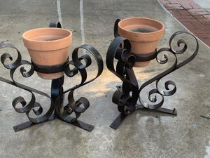 Pair of wrought iron plant stands-San Fernando valley-northridge for Sale in Los Angeles, CA