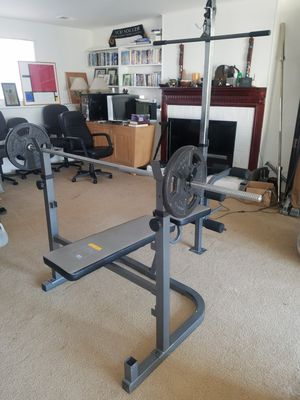 Full Workout Station & Weights for Sale in Fairfax, VA