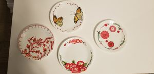 4 Decorative plates for hanging with hangers for Sale in McLean, VA