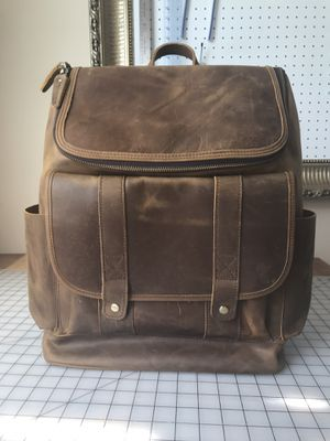 Men's brown real leather rider/ biker backpack for Sale in Alhambra, CA