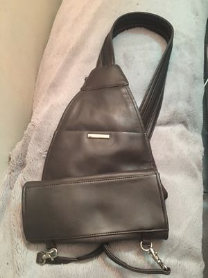 Nine W. sling shoulder bag genuine leather durable dark brown never used for Sale in York, PA
