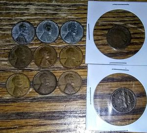 11 Coin Set: 2 Indian cents 9 wheat cents for Sale in Selden, NY