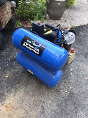 MECH POWER 2HP 4GAL - MECH POWER TWIN TANK AIR COMPRESSOR 2HP 4GAL for Sale in Reynoldsburg, OH