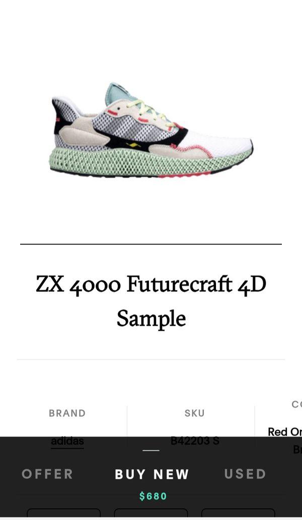 Men's Adidas ZX 4000 4D Futurecraft Torsion size 11