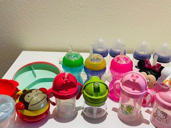 Baby Bottles Straw Cups Bowl Plate for Sale in West Covina,  CA