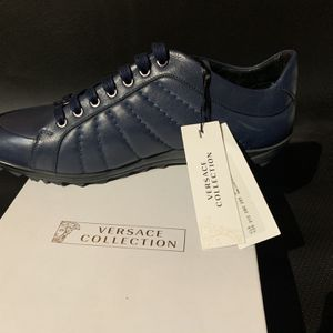Versace Men's Blue Leather Shoes for Sale in Pomona, CA