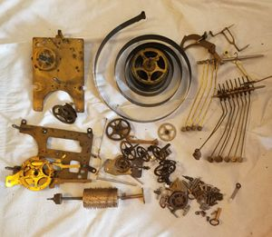 Antique Brass Clock Parts Steampunk Gears for Sale in Hollywood, FL